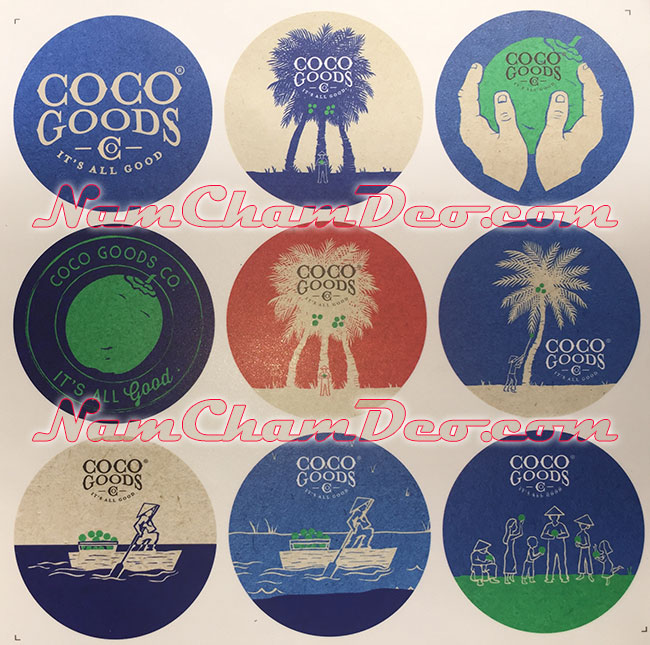 Logo dán tủ lạnh nam châm dẻo Coco Goods